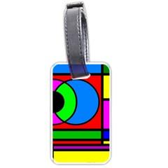 Mondrian Luggage Tag (one Side) by Siebenhuehner
