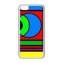 Mondrian Apple Iphone 5c Seamless Case (white) by Siebenhuehner