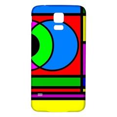 Mondrian Samsung Galaxy S5 Back Case (white) by Siebenhuehner