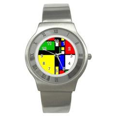 Abstrakt Stainless Steel Watch (slim) by Siebenhuehner