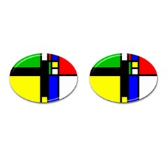 Abstrakt Cufflinks (oval) by Siebenhuehner