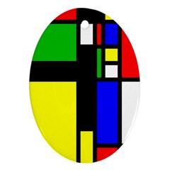 Abstrakt Oval Ornament (two Sides) by Siebenhuehner