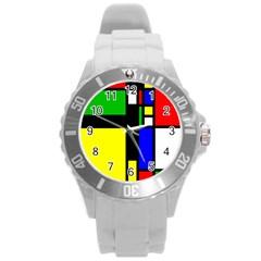 Abstrakt Plastic Sport Watch (large) by Siebenhuehner