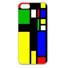 Abstrakt Apple Seamless Iphone 5 Case (clear) by Siebenhuehner