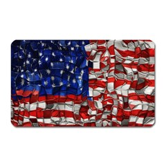 American Flag Blocks Magnet (rectangular) by bloomingvinedesign