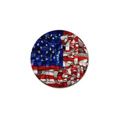 American Flag Blocks Golf Ball Marker by bloomingvinedesign