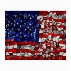 American Flag Blocks Glasses Cloth (small) by bloomingvinedesign