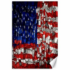 American Flag Blocks Canvas 20  X 30  (unframed) by bloomingvinedesign