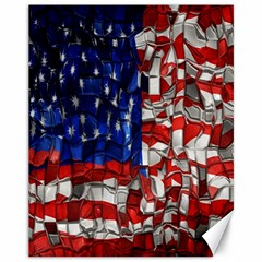 American Flag Blocks Canvas 11  X 14  (unframed) by bloomingvinedesign