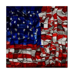 American Flag Blocks Face Towel by bloomingvinedesign
