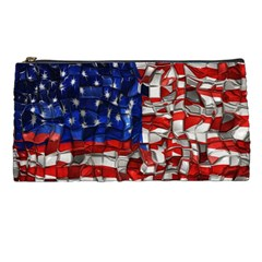 American Flag Blocks Pencil Case by bloomingvinedesign