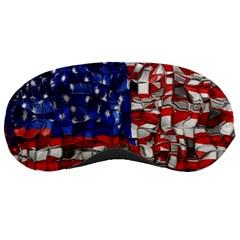 American Flag Blocks Sleeping Mask by bloomingvinedesign