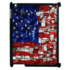 American Flag Blocks Apple Ipad 2 Case (black) by bloomingvinedesign
