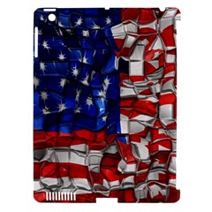 American Flag Blocks Apple Ipad 3/4 Hardshell Case (compatible With Smart Cover) by bloomingvinedesign