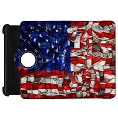 American Flag Blocks Kindle Fire Hd 7  (1st Gen) Flip 360 Case by bloomingvinedesign