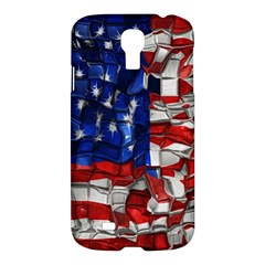 American Flag Blocks Samsung Galaxy S4 I9500/i9505 Hardshell Case by bloomingvinedesign