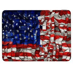 American Flag Blocks Samsung Galaxy Tab 7  P1000 Flip Case by bloomingvinedesign