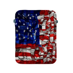 American Flag Blocks Apple Ipad Protective Sleeve by bloomingvinedesign