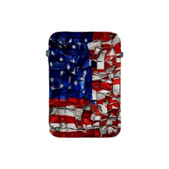 American Flag Blocks Apple Ipad Mini Protective Sleeve by bloomingvinedesign