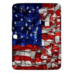 American Flag Blocks Samsung Galaxy Tab 3 (10 1 ) P5200 Hardshell Case  by bloomingvinedesign