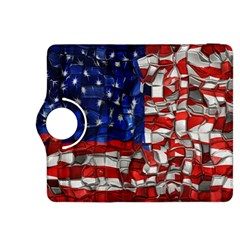 American Flag Blocks Kindle Fire Hdx 8 9  Flip 360 Case by bloomingvinedesign