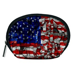 American Flag Blocks Accessory Pouch (medium)