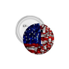 American Flag Blocks 1 75  Button by bloomingvinedesign