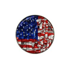 American Flag Blocks Golf Ball Marker 10 Pack (for Hat Clip) by bloomingvinedesign