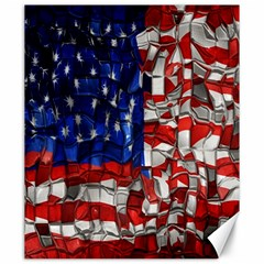 American Flag Blocks Canvas 20  X 24  (unframed) by bloomingvinedesign