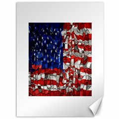 American Flag Blocks Canvas 36  X 48  (unframed) by bloomingvinedesign