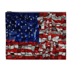 American Flag Blocks Cosmetic Bag (xl) by bloomingvinedesign