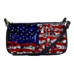 American Flag Blocks Evening Bag by bloomingvinedesign