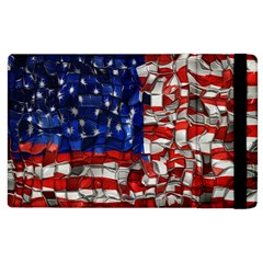 American Flag Blocks Apple Ipad 2 Flip Case by bloomingvinedesign