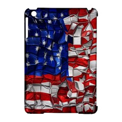 American Flag Blocks Apple Ipad Mini Hardshell Case (compatible With Smart Cover) by bloomingvinedesign