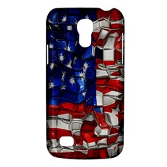 American Flag Blocks Samsung Galaxy S4 Mini (gt I9190) Hardshell Case  by bloomingvinedesign