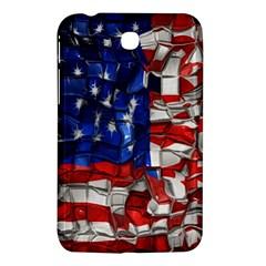 American Flag Blocks Samsung Galaxy Tab 3 (7 ) P3200 Hardshell Case  by bloomingvinedesign
