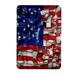 American Flag Blocks Samsung Galaxy Tab 2 (10 1 ) P5100 Hardshell Case  by bloomingvinedesign