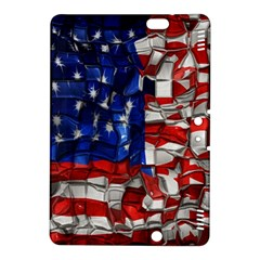 American Flag Blocks Kindle Fire Hdx 8 9  Hardshell Case by bloomingvinedesign
