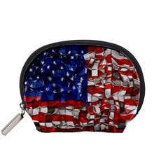 American Flag Blocks Accessory Pouch (small)