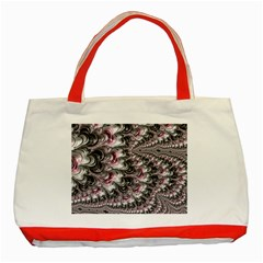 Black Red White Lava Fractal Classic Tote Bag (red) by bloomingvinedesign