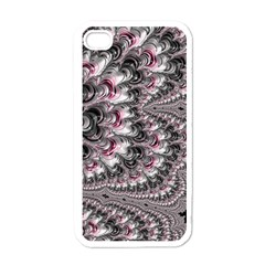 Black Red White Lava Fractal Apple Iphone 4 Case (white) by bloomingvinedesign