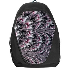 Black Red White Lava Fractal Backpack Bag by bloomingvinedesign