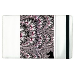Black Red White Lava Fractal Apple Ipad 3/4 Flip Case by bloomingvinedesign