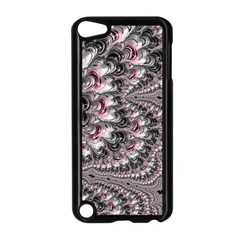 Black Red White Lava Fractal Apple Ipod Touch 5 Case (black) by bloomingvinedesign