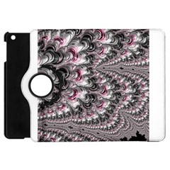 Black Red White Lava Fractal Apple Ipad Mini Flip 360 Case by bloomingvinedesign