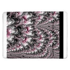 Black Red White Lava Fractal Samsung Galaxy Tab Pro 12 2  Flip Case