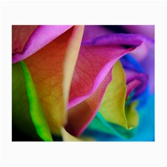 Rainbow Roses 16 Glasses Cloth (small) by bloomingvinedesign
