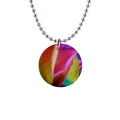 Rainbow Roses 16 Button Necklace by bloomingvinedesign