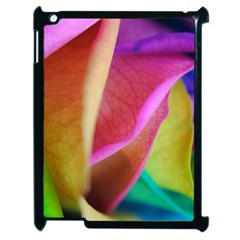 Rainbow Roses 16 Apple Ipad 2 Case (black) by bloomingvinedesign