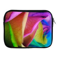 Rainbow Roses 16 Apple Ipad Zippered Sleeve by bloomingvinedesign